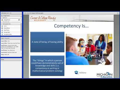 Competency-Based Education Pilot (21j) Webinar