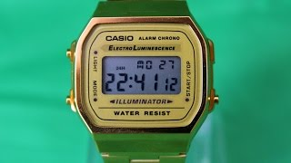 Casio A-168WG-9E | Обзор и настройка (на русском) | Купить со скидкой(ПP0M0K0Д ДЛЯ СКИДКИ - obzorvremeny ▻Магазин TempusShop - http://bit.ly/2jkC6Rj ▱▱▱▱▱▱▱▱▱▱▱▱▱▱▱▱▱▱▱▱▱▱▱ ▱▱▱▱▱▱▱..., 2015-06-17T13:51:27.000Z)