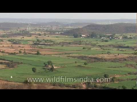 Xerophytic scrub forest and agricultural lands outside Gwalior