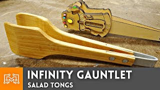 Infinity Gauntlet Salad Tongs (and normal ones too) // Woodworking How To