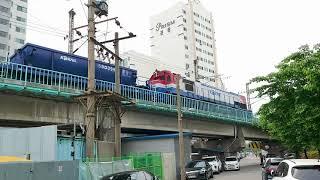 구로삼각선 상.하행 왕복 화물열차