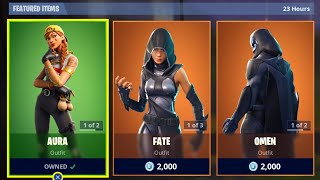 *NEW* FORTNITE ITEM SHOP AURA & GUILD SKINS - SOLO WINS LIVE (Fortnite Battle Royale)