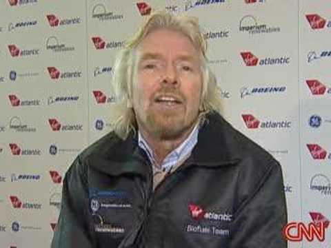 Virgin Airlines uses biofuel