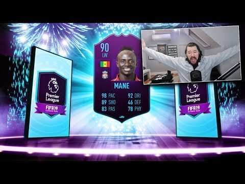 90 RATED LW SADIO MANE PLAYER OF THE MONTH! - FIFA 19 Ultimate Team thumbnail