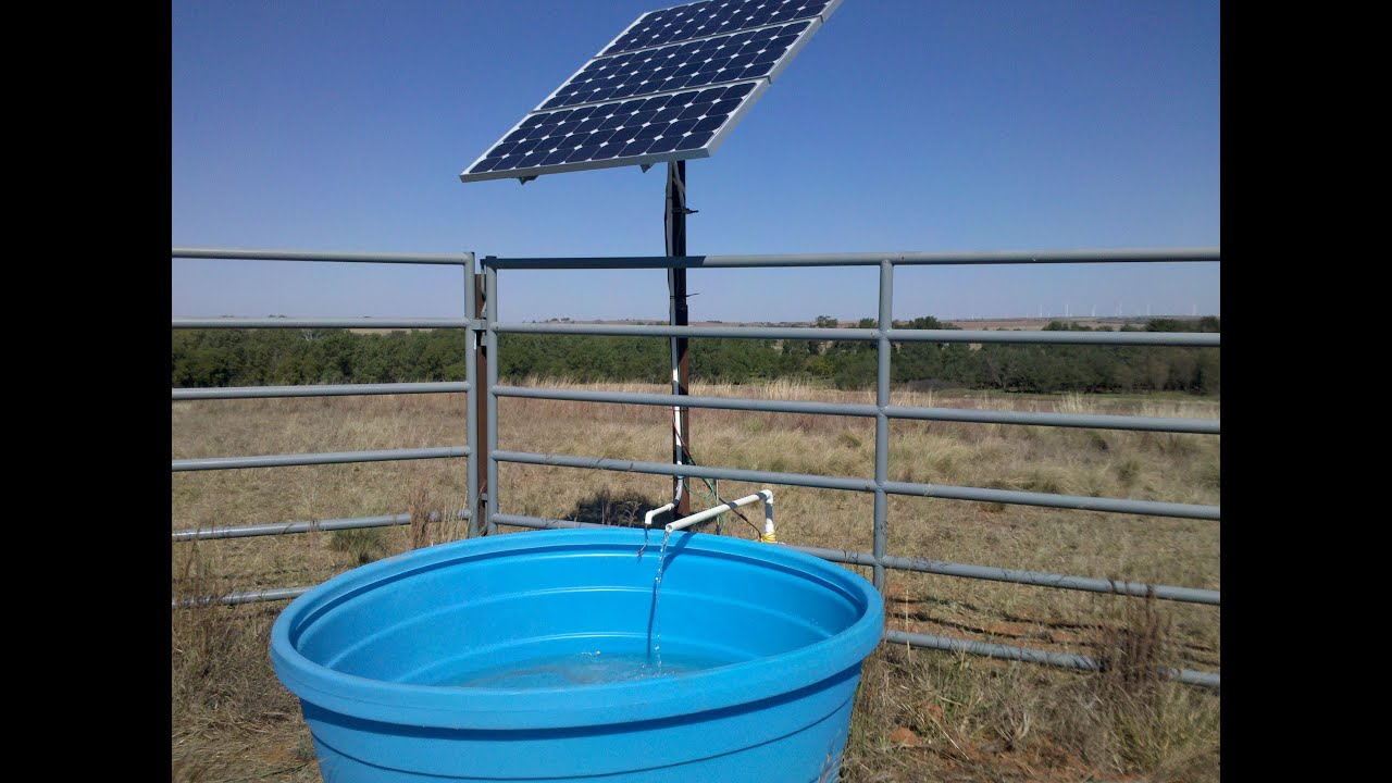 solar power livestock water tank heater