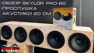 Обзор динамиков Skylor PRO-85. Прослушка акустики 20 см