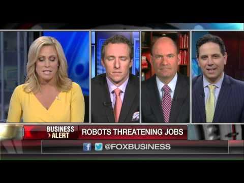 Robots threatening human jobs