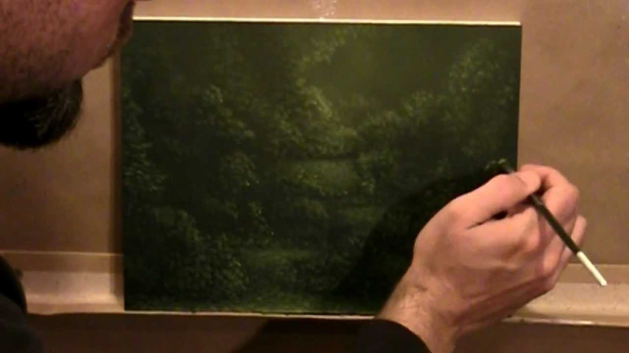 Time lapse painting dark enchanted landscape forest trail for Paint a dark picture