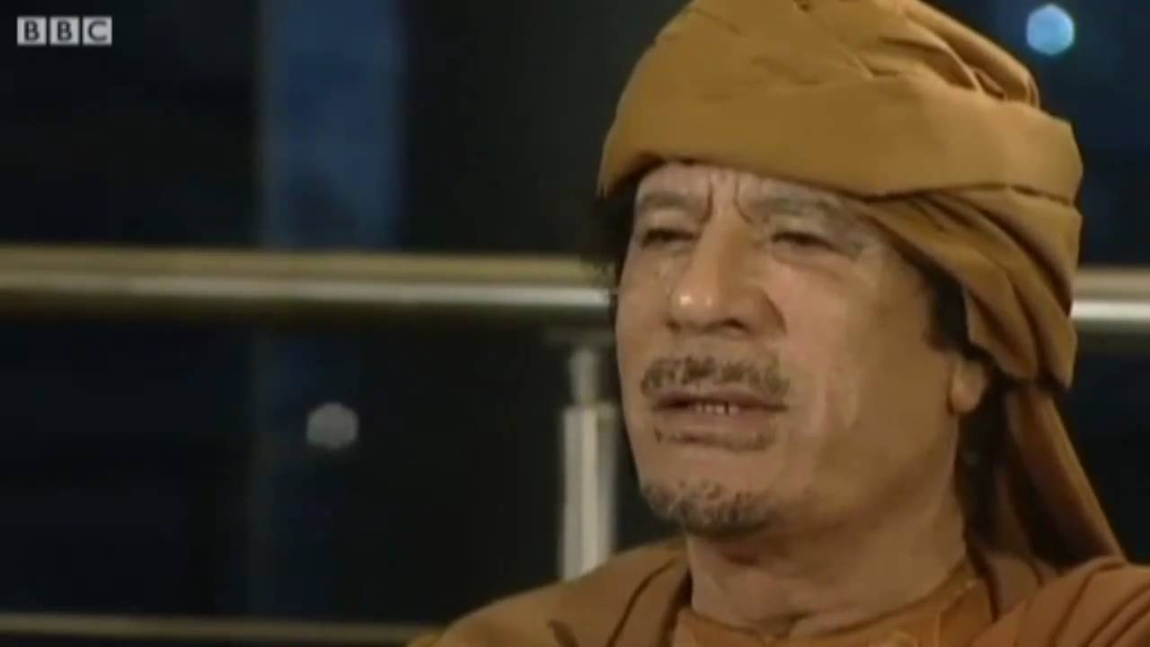 Hitler interviews Gaddafi