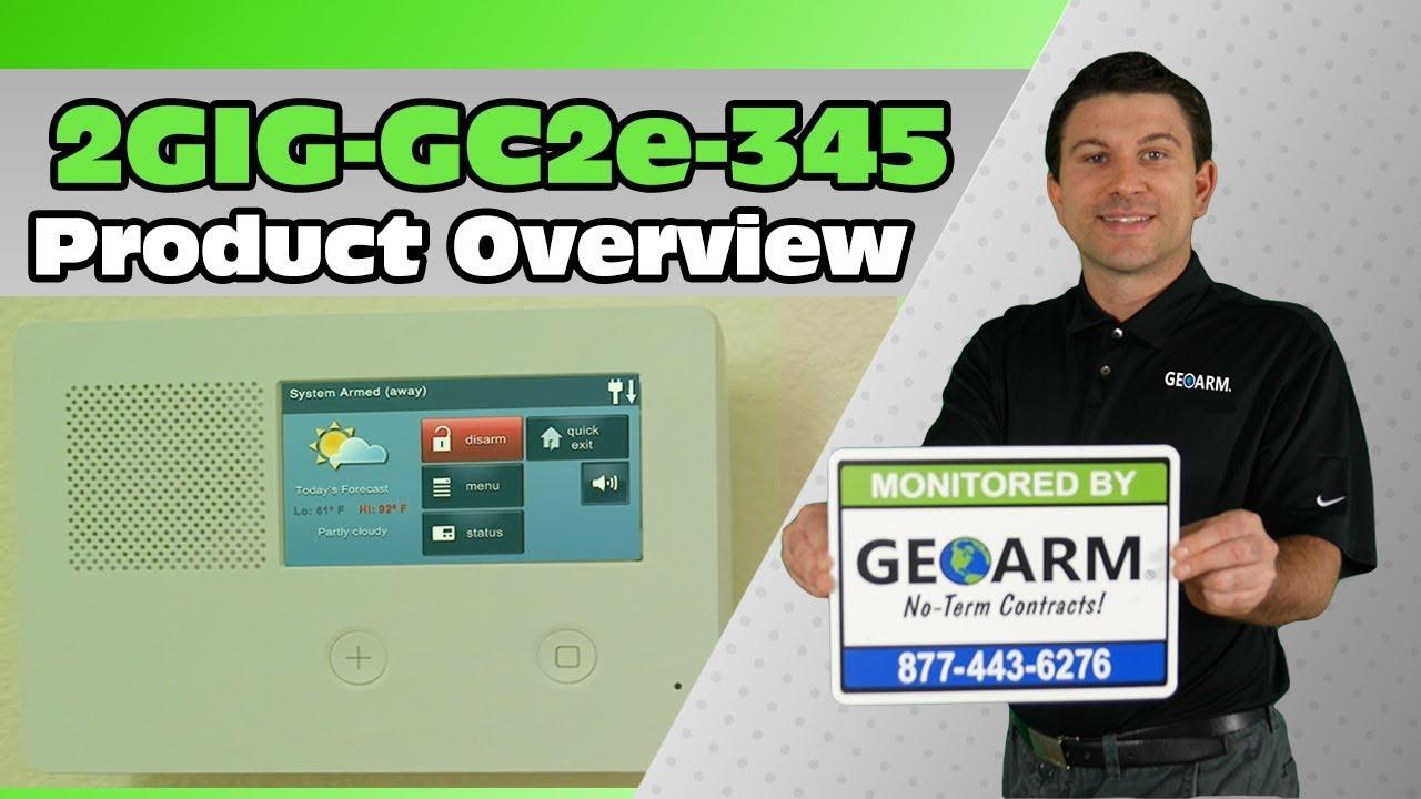 NEW *2gig* GC2e 2GIG-GC2E-345 Wireless Touchscreen Panel