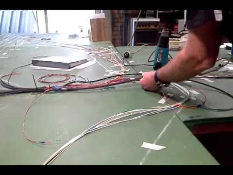 making a wiring harness Protecting a Wire Harness