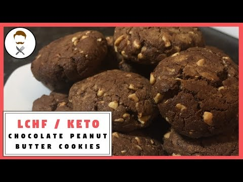 Chocolate Peanut Butter Cookies [NO FLOUR] || The Keto Kitchen