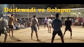 Dorlewadi vs  Solapur highlights volleyball match@Limbaji Chincholi 2018-19
