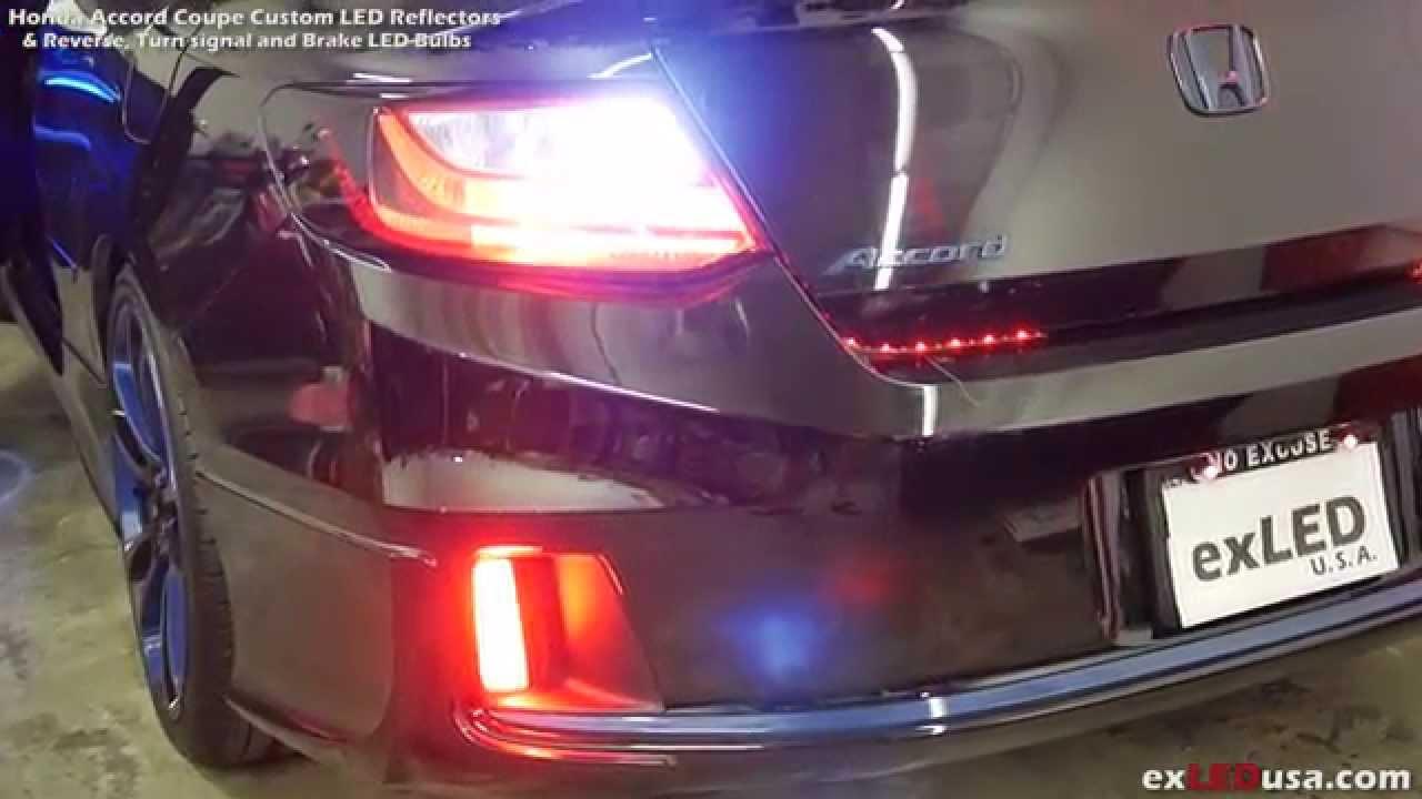 Exledusa Honda Accord Coupe Custom Led Reflectors Youtube