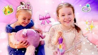 Теперь мы волшебные принцессы. Игры одевалки: видео для девочек.