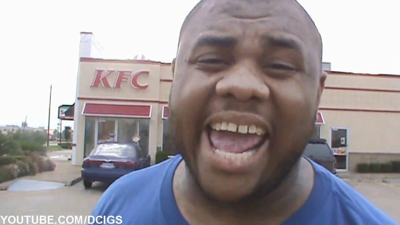 black man angry at