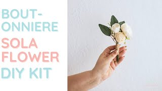 How to make a w๐od flower boutonniere (DIY Kit)
