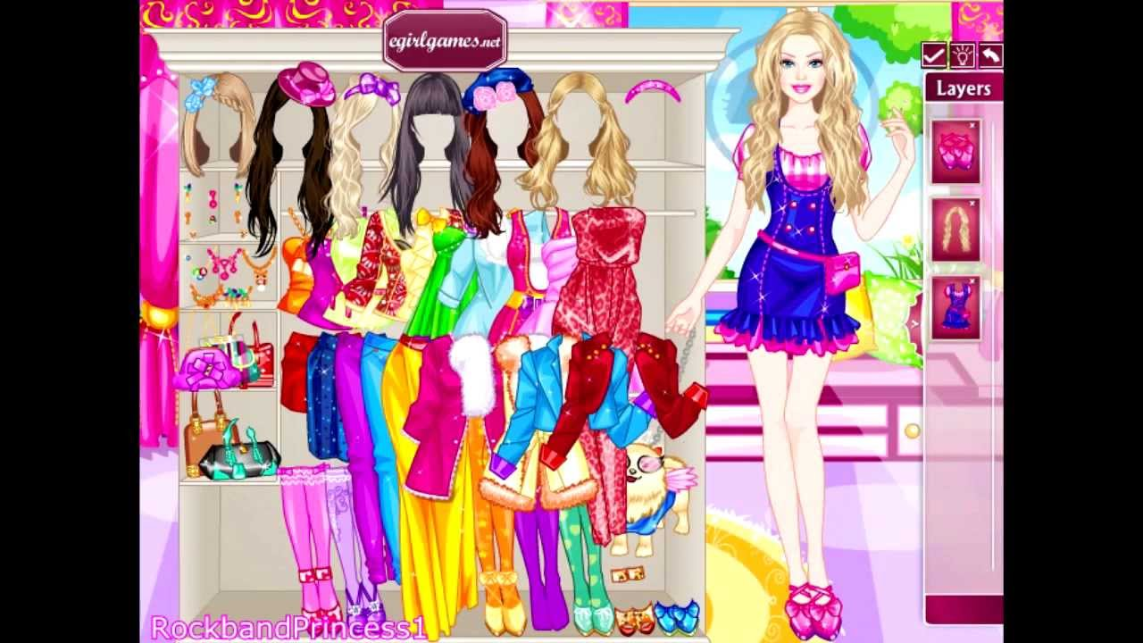 Barbie Online Games Glam Dress Up Game Youtube