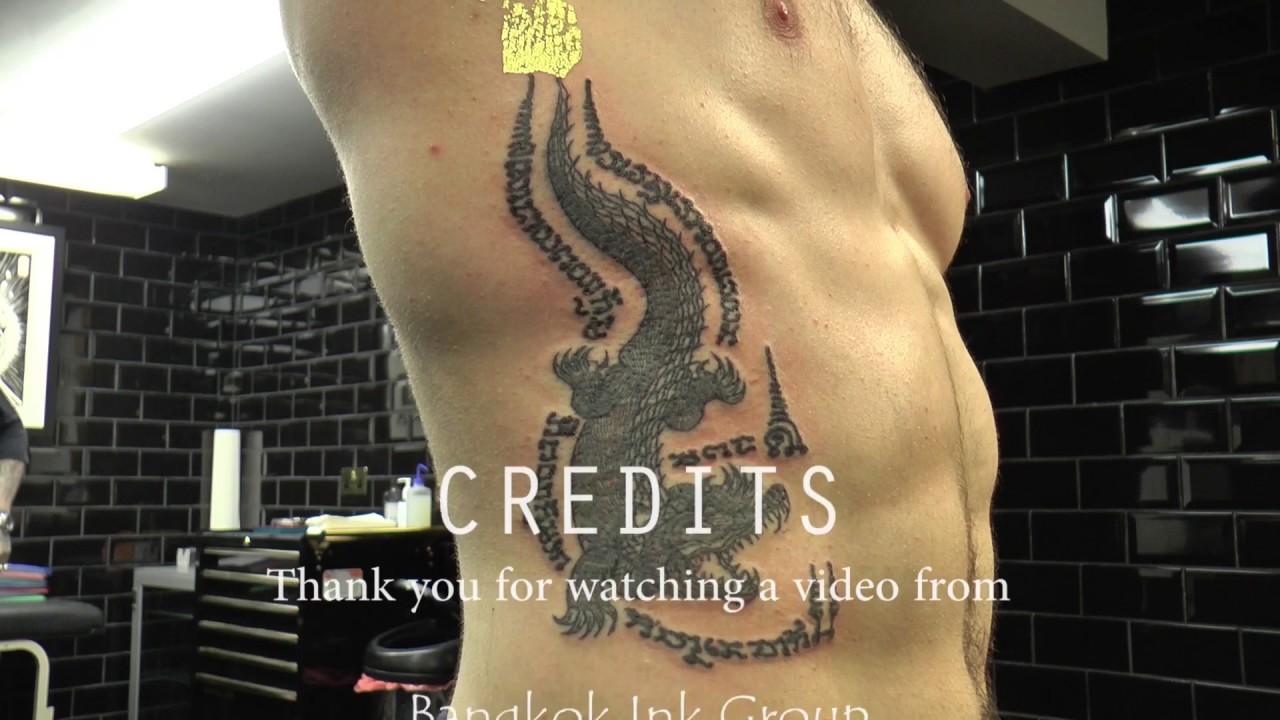 Crocadile Sak Yant and Goa Yord - YouTube