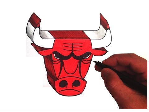 How to Draw the Chicago Bulls Logo in 3D
