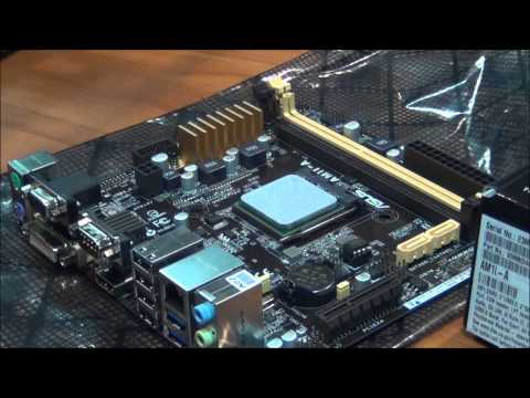 AMD Socket AM1 Install On Asus Am1i-A Mini Itx : AMD Athlon 5350 Kabini Quad-Core AM1