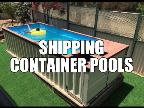 shipping container pools youtube. Black Bedroom Furniture Sets. Home Design Ideas