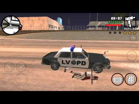 Messing with cops in GTA San Andreas (5...