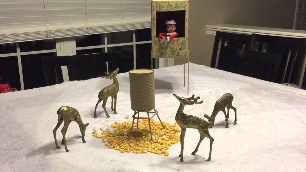 Elf On The Shelf Goes Deer Hunting Youtube