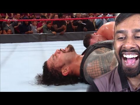 Roman Reigns vs. Samoa Joe - Intercontinental Championship Match: Raw, Jan. 1, 2018(REACTION) thumbnail