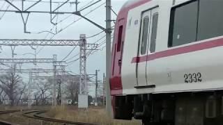 【MH】146レ 名鉄1700系1702編成 笠松到着&東笠松駅跡通過ミュージックホーンハーフ