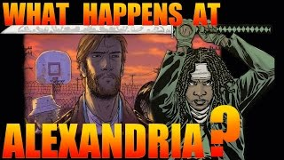 What happens at the Alexandria Safe Zone in the Walking Dead Comic