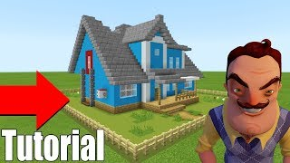 "Minecraft Tutorial: How To Make The Hello Neighbour House Original ""Hello Neighbour House"""