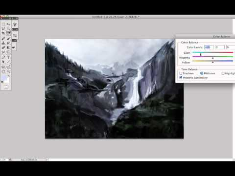 Landscape Speedpaint photoshop