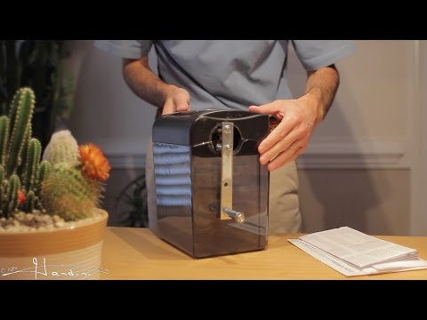 Homemade Hand Crank Paper Shredder