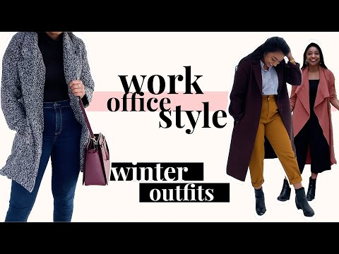 WINTER OFFICE / WORK OUTFIT IDEAS ❄️ | WINTER FASHION LOOKBOOK | OUTFIT IDEAS | KAECOLORS