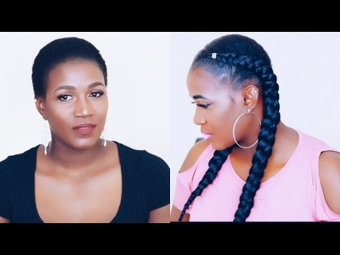 HOW TO | CROCHET FEED IN BRAIDS ON VERY SHORT NATURAL HAIR