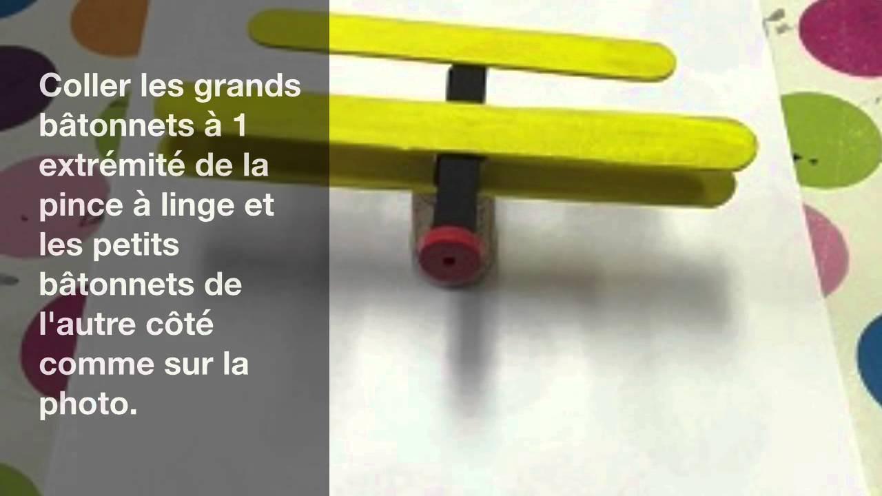 Avions en bois youtube - Bricolage avec pince a linge en bois ...