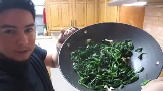 Kale & Spinach Sauté! - Deliciousness Vlog 2