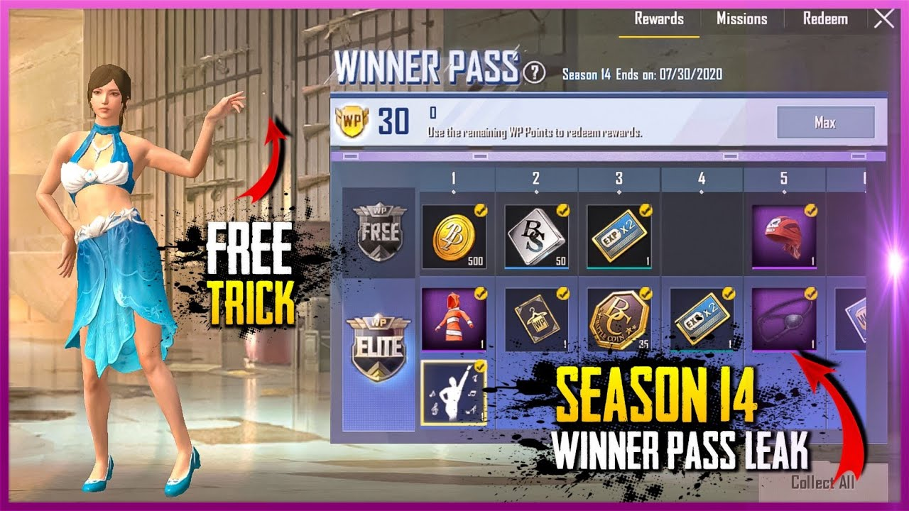 PUBG Mobile lite Season 14 Winner Pass All Rewards Leak - New Emotes | Pubg lite New Season 14