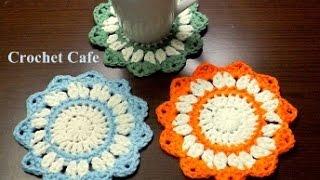 كروشيه قواعد للأكواب | كروشيه كافيه | Crochet Cafe