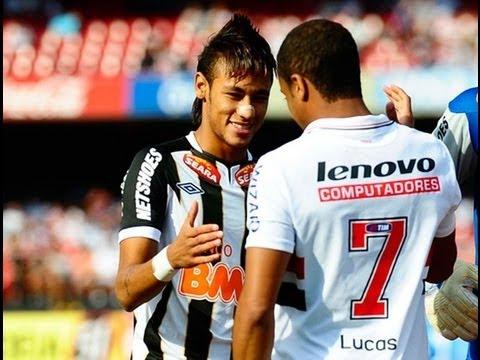 • Neymar Jr VS Lucas Moura   Skills and Goals - HD