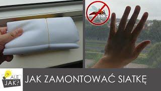 Jak zamontować siatkę na okno przeciw owadom ? | STOP KOMAROM ⛔! | alejaktozrobic