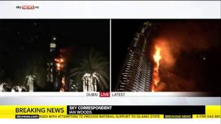Fire Breaks Out At The Address Hotel, Downtown Dubai RAW VIDEO