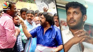 T Rajendar fights with the PRESS & Angry Speech | Latest TR Protest | Vishal, GST