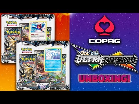 UNBOXING & SHINY HUNTING! SOL E LUA 5 ULTRA PRISMA - TRIPLE PACKS