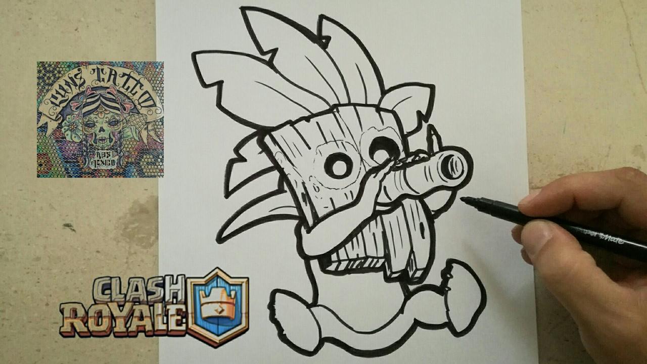 Dibujos Para Dibujar De Clash Royale: COMO DIBUJAR AL DUENDE LANZA DARDOS