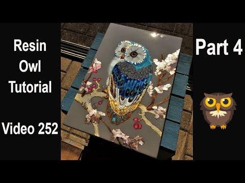 Resin Art for beginners/ start to finish/ Resin OWL tutorial