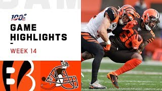 Bengals vs. Browns Week 14 Highlights