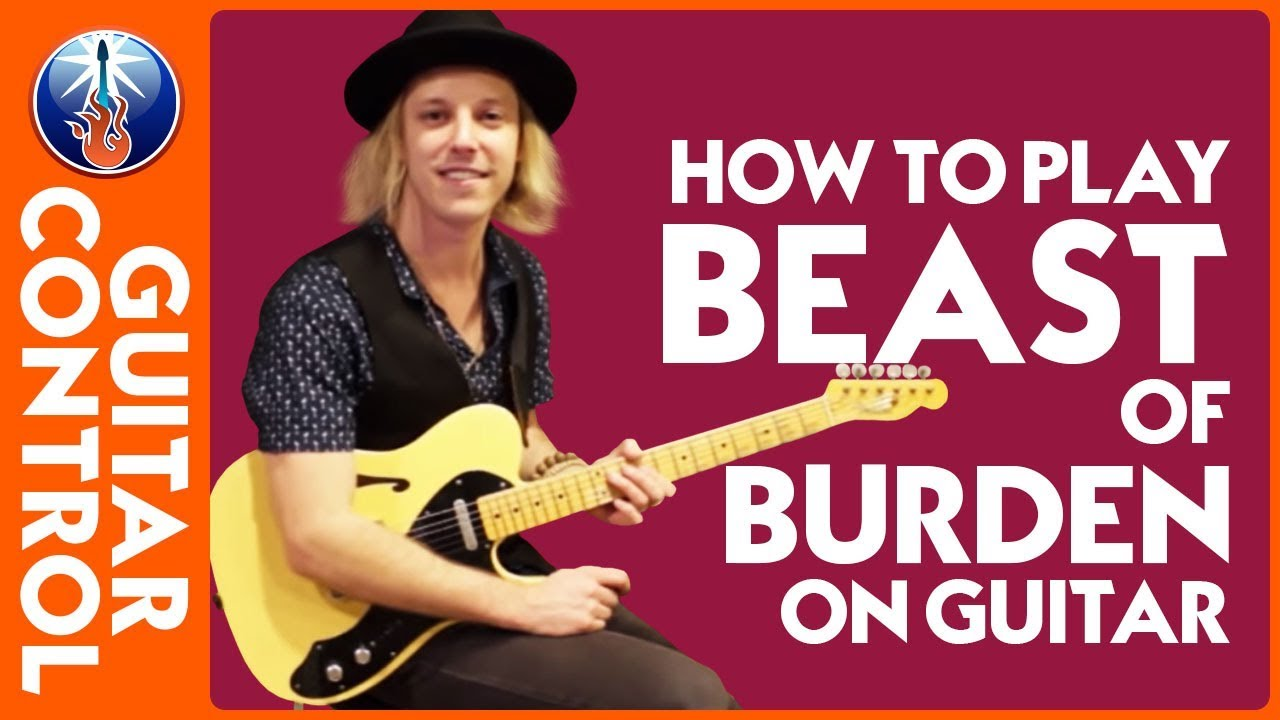how to play beast of burden on guitar rolling stones song lesson youtube. Black Bedroom Furniture Sets. Home Design Ideas