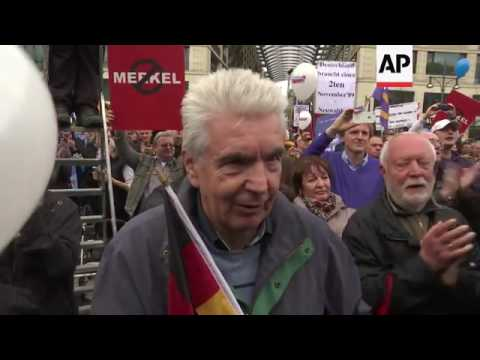 Anti immigration rally in Berlin
